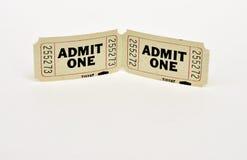 2 biglietti per 1 Immagine Stock Libera da Diritti