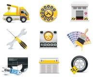 2 bilsymboler part service Arkivbilder