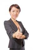 2 biznesowa pokazywać aprobat kobieta Obrazy Royalty Free