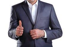 2 biznesowego mężczyzna seans kciuk biznesowy Obraz Stock
