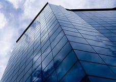 2 blåa byggnader Royaltyfria Foton