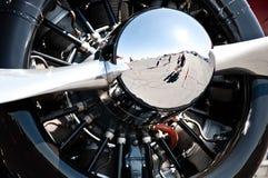 2 blad plane propellern Arkivbild