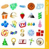 2 blandade logoer royaltyfri illustrationer