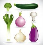 2 blandade set grönsaker Royaltyfri Bild