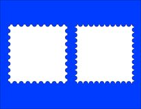 2 blank stamp templates. A blank stamp templates ready to be filled with your photos Stock Photography
