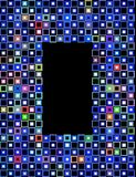 2 block frame 库存图片
