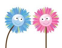 2 bloemen die als elkaar Stock Afbeeldingen