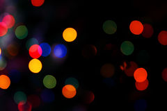 2 blurred color lights Στοκ φωτογραφία με δικαίωμα ελεύθερης χρήσης