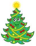 2 bożego narodzenie uśmiecha tree wektora Obrazy Stock