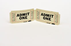 2 boletos para 1 Imagen de archivo libre de regalías