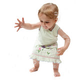 2 bolhas de travamento da menina dos anos de idade Fotos de Stock Royalty Free