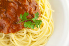 2 bolognese spagheti 免版税图库摄影