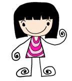 2 boy cartoon girl stock illustrationer