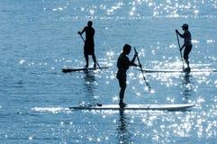 2 bräden paddle sunen Royaltyfria Bilder