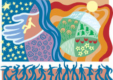 2 bractw chrześcijanina jedność Obraz Stock