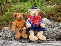 2 Brown Teddy Bear Royalty Free Stock Photos