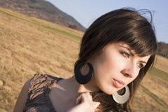 2 brunetka target1312_0_ uroczy naturalnego Zdjęcia Royalty Free