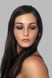 2 brunetki headshot uroczych potomstwa Obrazy Stock