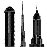 2 budynków drapacza chmur wektora Zdjęcie Royalty Free