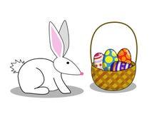 2 bunny Πάσχα Στοκ εικόνα με δικαίωμα ελεύθερης χρήσης