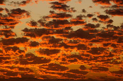 2 burning skies Royaltyfri Foto