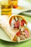 2 burritos на плите Стоковое фото RF