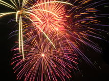 2 burst fireworks Στοκ Εικόνα