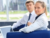 2 businessman. Two young business collegue working together in office Royalty Free Stock Photo