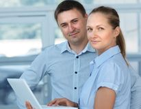 2 businessman. Two young business collegue working together in office Stock Photography