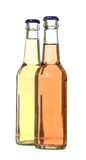 2 butelek Obrazy Royalty Free