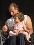 2 córek ojciec Obraz Stock