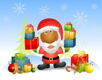 2 cadeaux Santa de Claus Photos stock