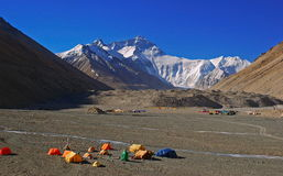 2 camp de base everest Photo libre de droits