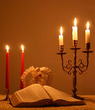 2 candlelightjul Royaltyfri Foto