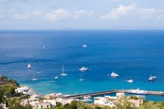 2 capri海岛意大利 免版税库存图片