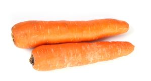 2 carrots Stock Photo