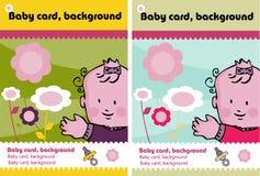2 cartões do bebê Imagem de Stock Royalty Free