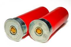 2 cartucce per fucili a canna liscia Fotografie Stock