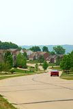 2 case suburbane del mattone di storia Immagine Stock Libera da Diritti