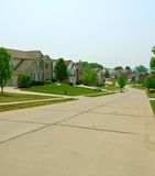 2 case suburbane del mattone di storia Fotografie Stock Libere da Diritti