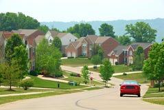 2 case suburbane del mattone di storia Fotografia Stock Libera da Diritti