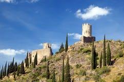 2 castillo de lastours Arkivfoton