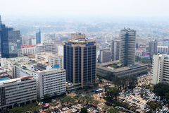 2 centre Nairobi Images libres de droits