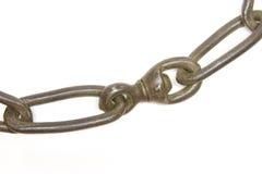 2 chain sammanlänkningar Arkivfoto