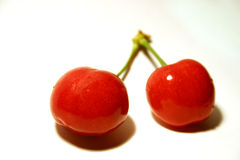 2 cherries Royalty Free Stock Photos