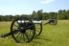2 chickamauga kanonów wojna domowa Fotografia Stock
