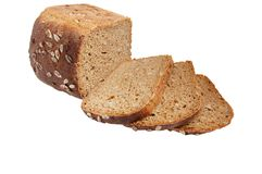 2 chlebowego pełnego żyta ziarna Zdjęcia Stock