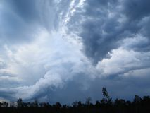 2 chmury Obraz Royalty Free