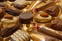2 chocolats de cadre Images stock