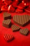 2 chokladdagvalentiner Arkivbilder
